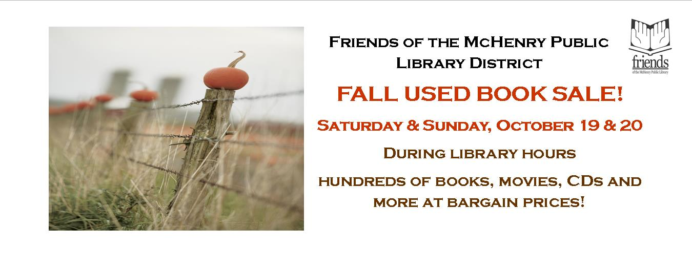 2019 Friends Fall Book Sale
