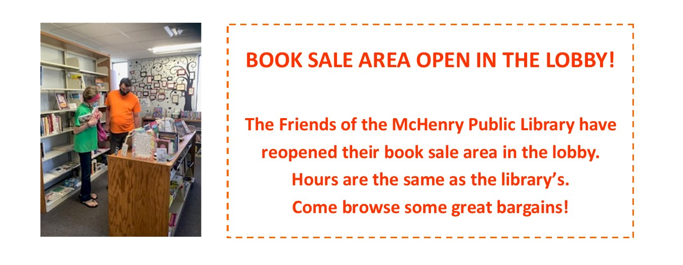 Book sale area open